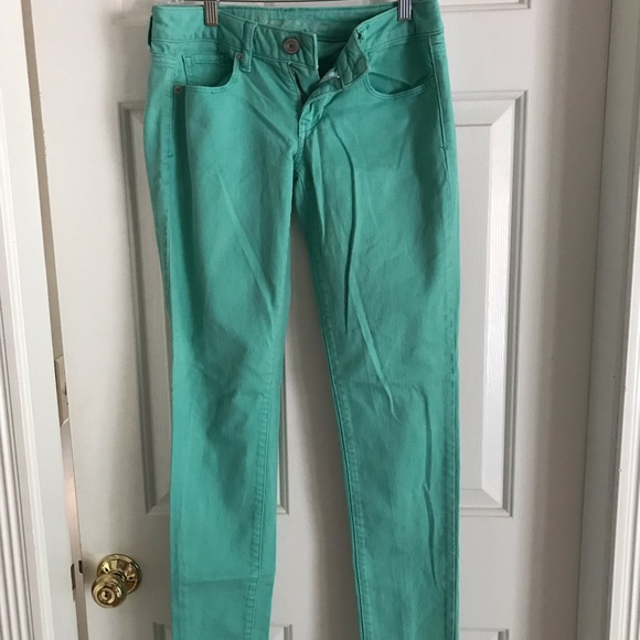 American Eagle Outfitters Denim - American Eagle Teal Jeans size 2